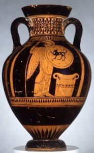 Red figure amphora by the Nikoxenos painter