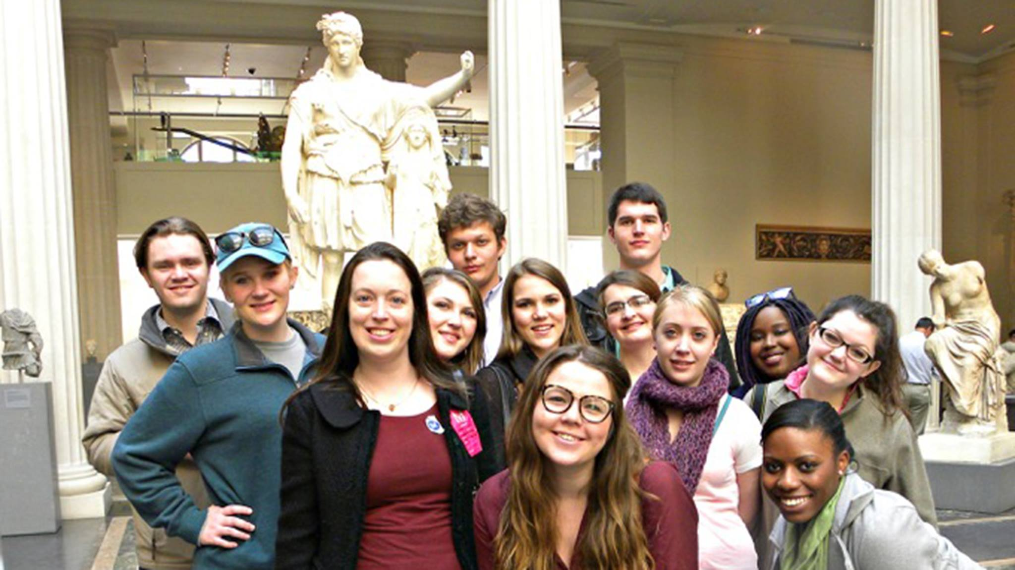 classics class studying antiquities took an educational trip to New York over spring break.