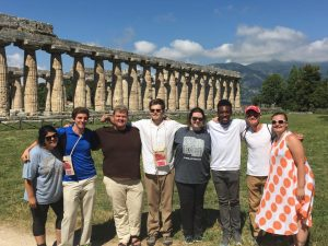 The group at Paestum.